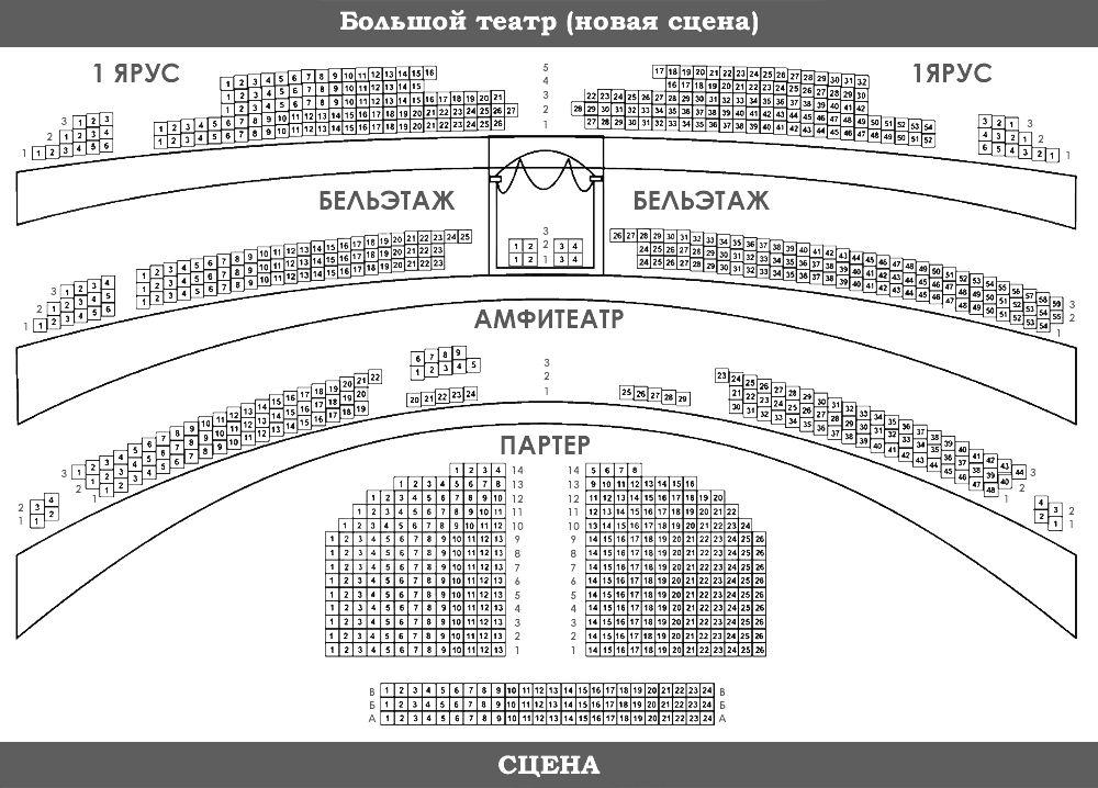 Большой театр схема зала новая