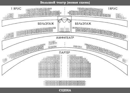 Большой театр схема зала новая сцена