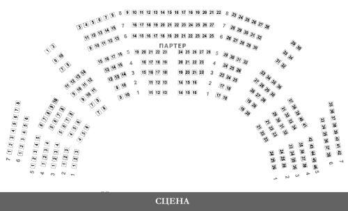 Большой театр схема зала Бетховенский зал