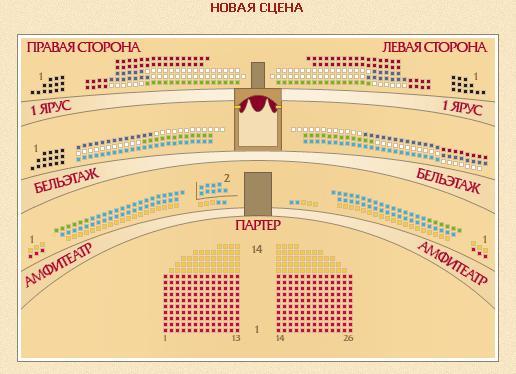 Схема зрительного зала исторической сцены большого театра 141